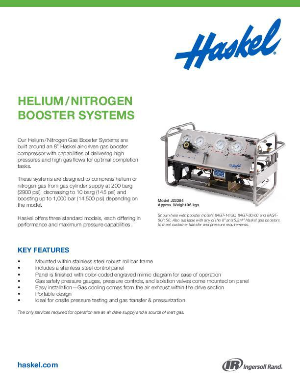 Helium-Nitrogen-Booster-Systems
